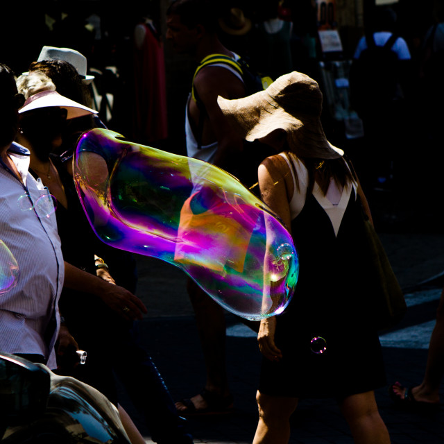 """""""Darkness And Bubbles"""" stock image"""