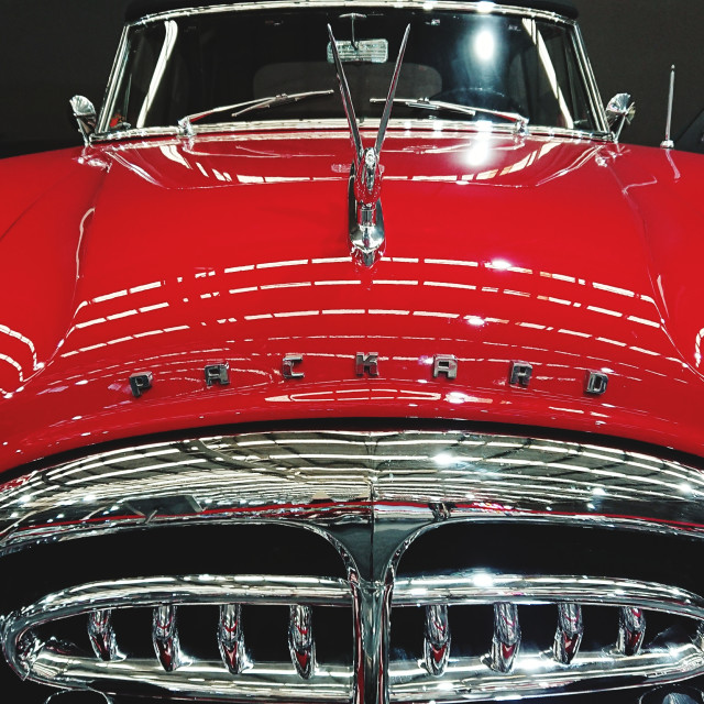 """Red Packard 740 - 1930"" stock image"