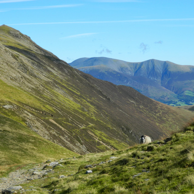 """grisedale pike cumbria"" stock image"
