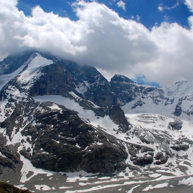 """Alpine Skies"" stock image"
