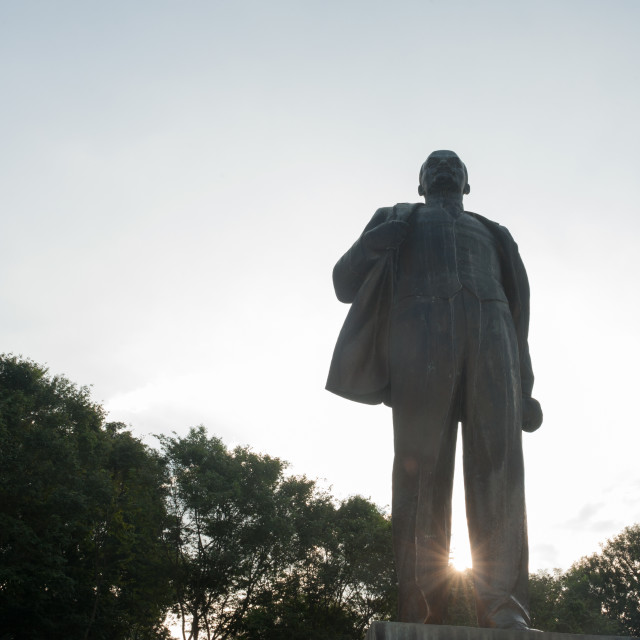 """""""Hanoi Vietnam Statue of Vladimir Lenin still takes pride of place on a square in the centre of the city."""" stock image"""