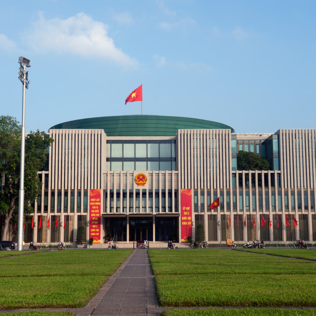 """Hanoi Vietnam Vietnamese parliament."" stock image"
