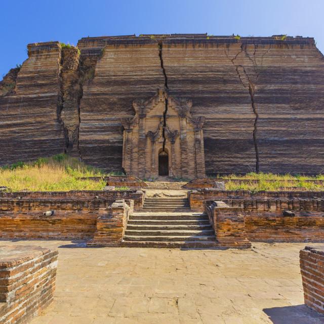 """Mingun Pahtodawgyi Temple in Mandalay"" stock image"