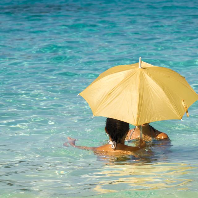 """Women under an umbrella 1"" stock image"