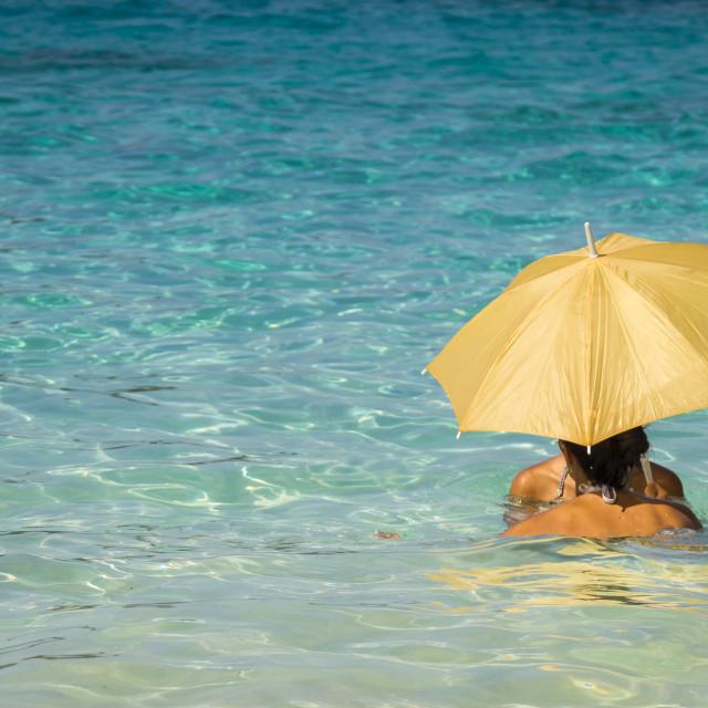 """Women under an umbrella 2"" stock image"