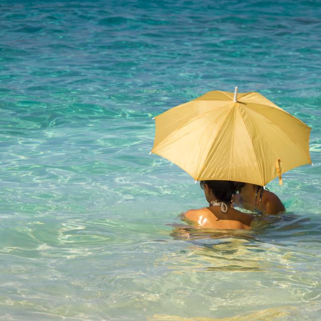 """Women under an umbrella 3"" stock image"