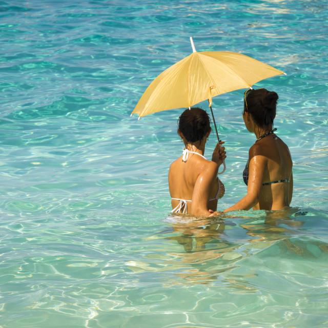 """Women under an umbrella 5"" stock image"