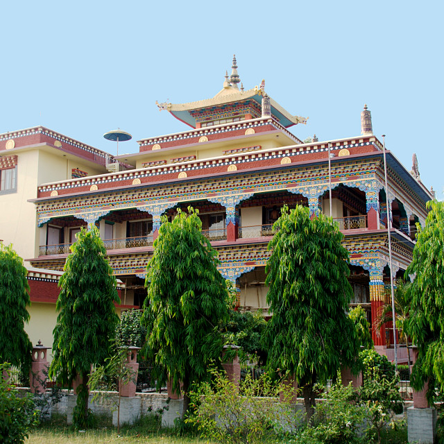 """""""Buddhist Monastery, Bodhgaya"""" stock image"""