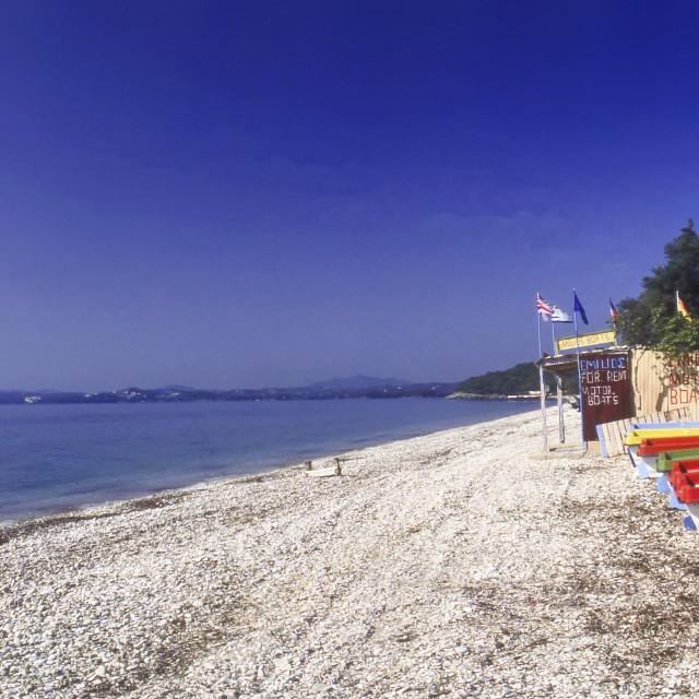 """""""Barbati Beach, Corfu, Greece"""" stock image"""