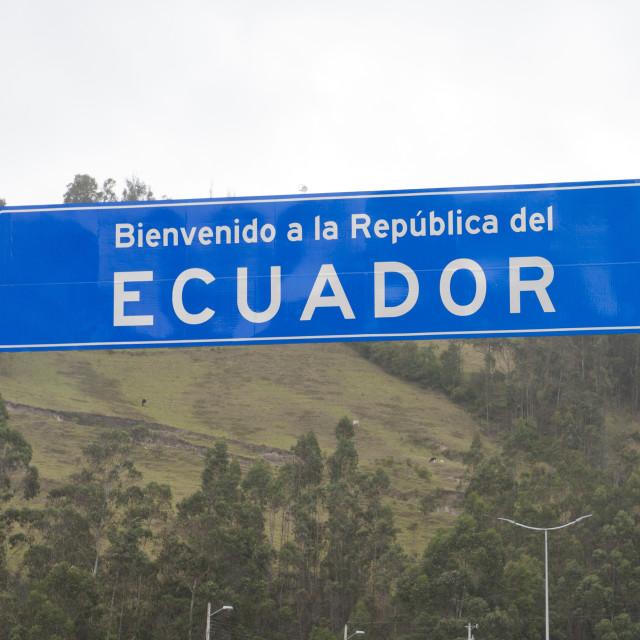 """""""Ipiales Colombia Border crossing between Colombia and Ecuador."""" stock image"""