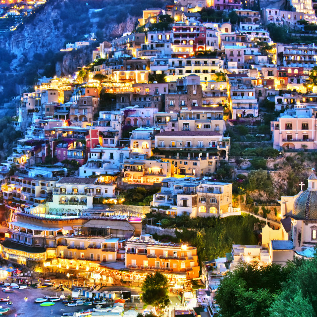 """City of Positano on Amalfi coast, Italy"" stock image"