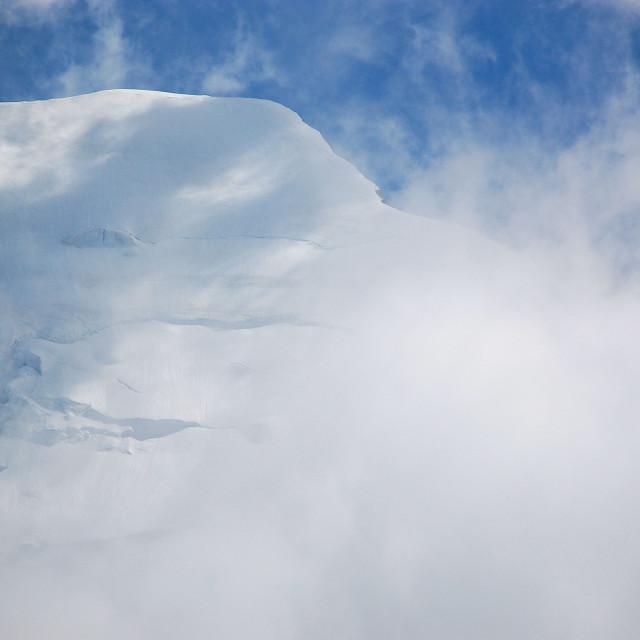 """White Bionnassay"" stock image"