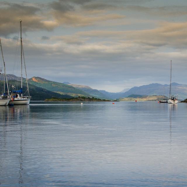 """KYLE HARBOUR, ISLE OF SKYE, SCOTLAND"" stock image"
