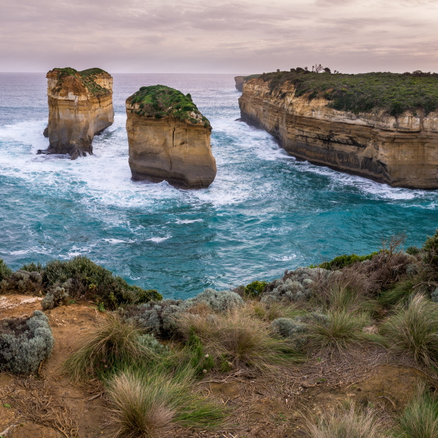 """Great Ocean Road Sunset"" stock image"