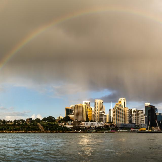 """""""Sydney Double Rainbow"""" stock image"""
