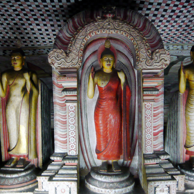 """Buddha statues, Rock Temple, Dambulla"" stock image"