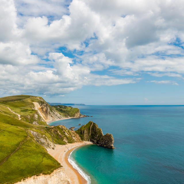 """Durdle Door, Dorset touris attraction view from west side"" stock image"