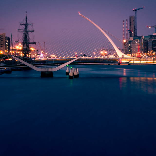 """Dublin at Night"" stock image"