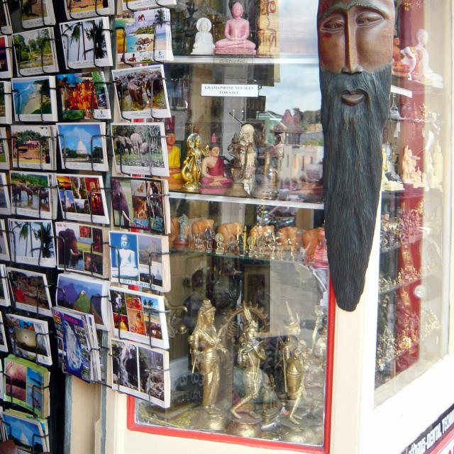 """Shop window, Kandy"" stock image"
