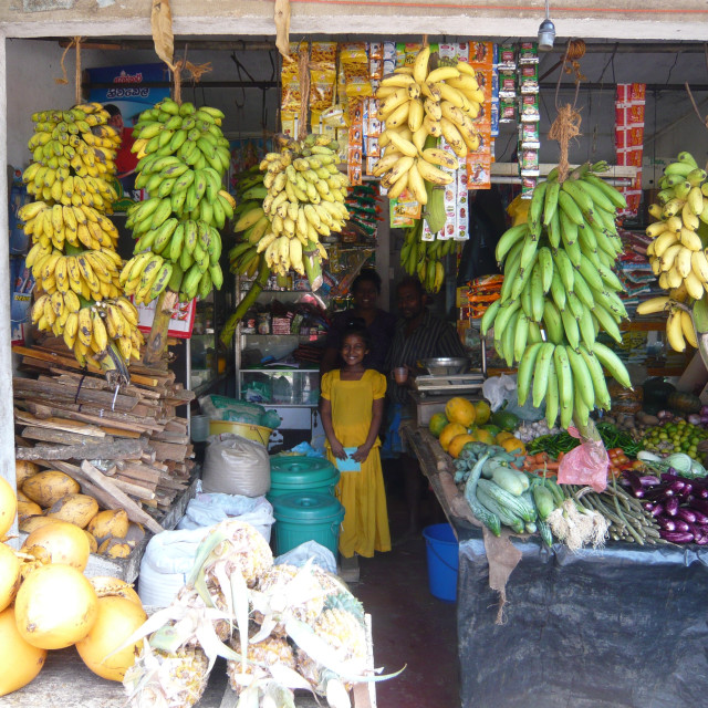 """Fruit and vegetable shop, Sri Lanka"" stock image"