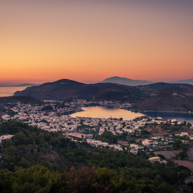 """Patmos island Greece"" stock image"