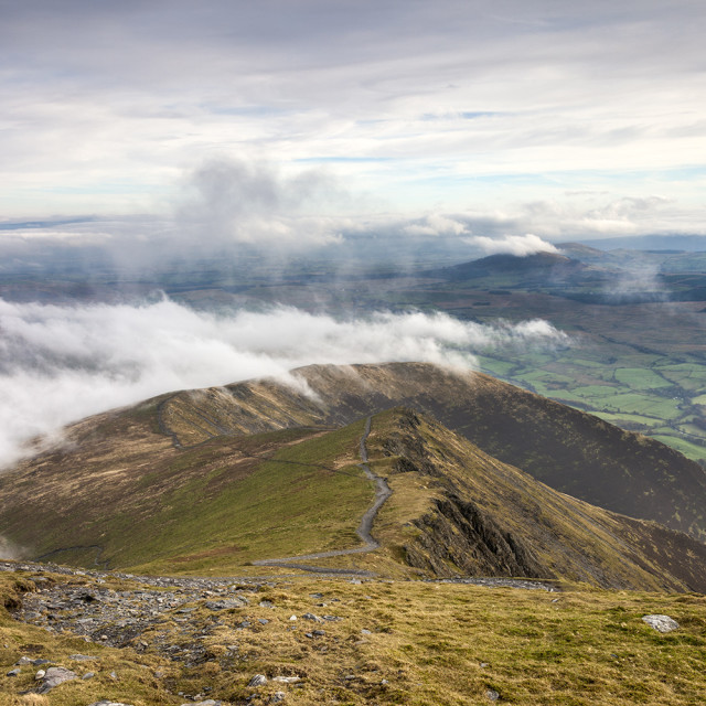 """Scales Fell from Blencathra, Lake District, Cumbria, UK"" stock image"