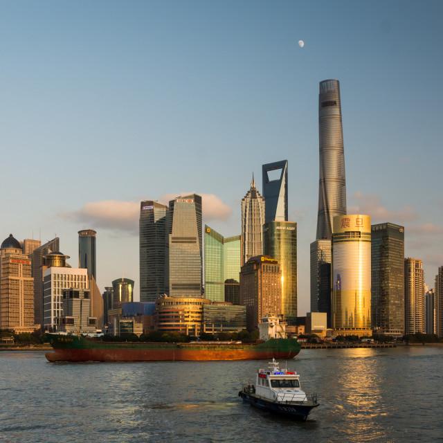 """Shanghai Bund view"" stock image"