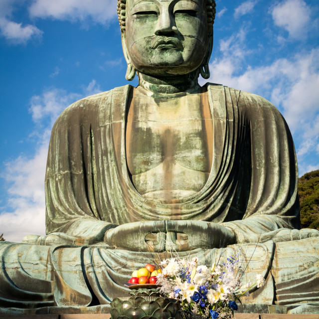 """Great Buddha of Kamakuru"" stock image"