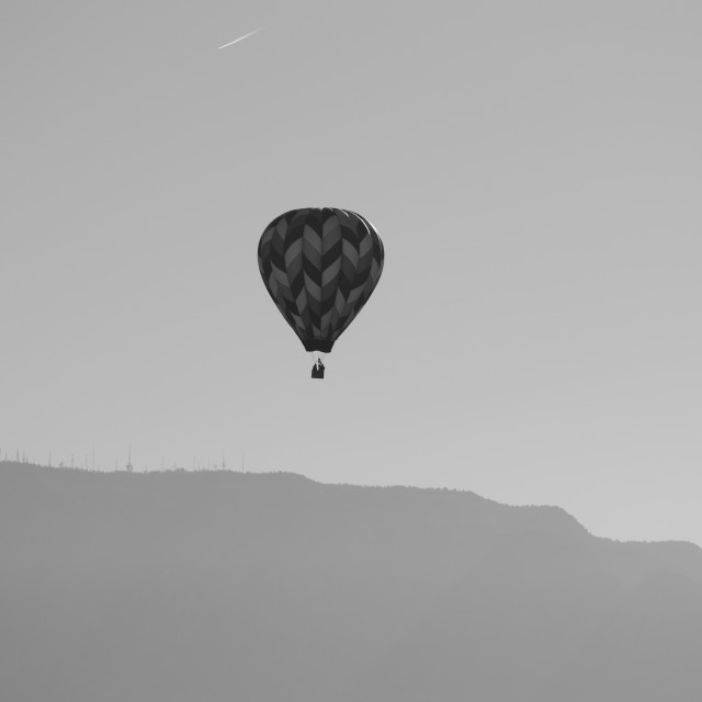 """Hot Air Balloon Monochrome"" stock image"