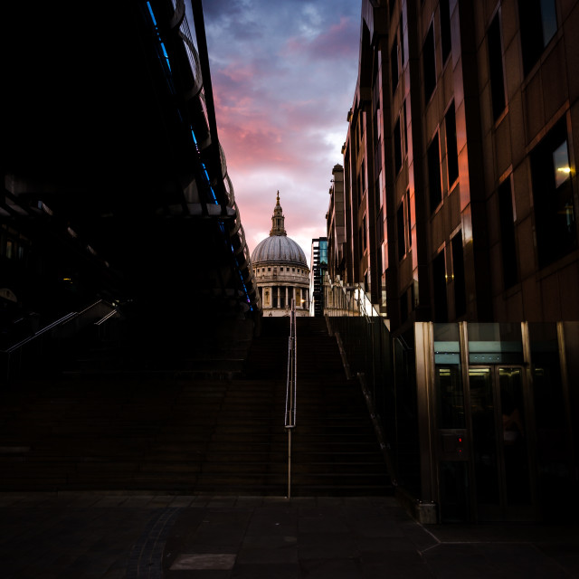 """St Paul's Cathedral London"" stock image"