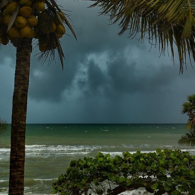 """Dark storm approaching"" stock image"