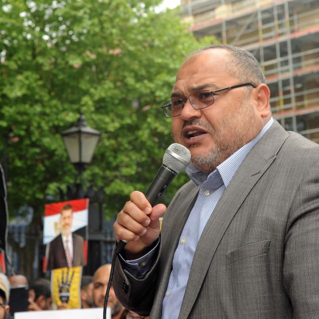 """Muslim Brotherhood Protest London"" stock image"