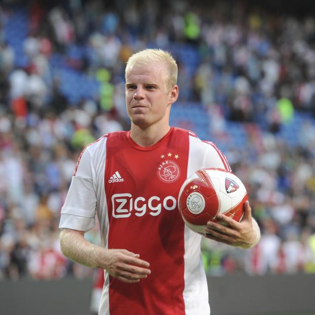 """Pre season friendly AFC Ajax vs VFL Wolfsburg"" stock image"