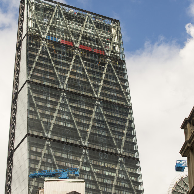 """The new Leadenhall building in the City of London, UK."" stock image"