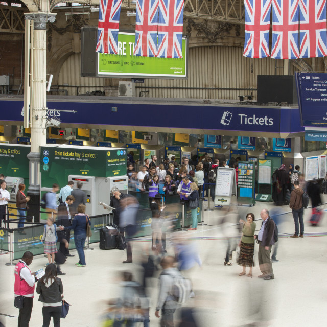 """""""Victoria Station in London, UK."""" stock image"""
