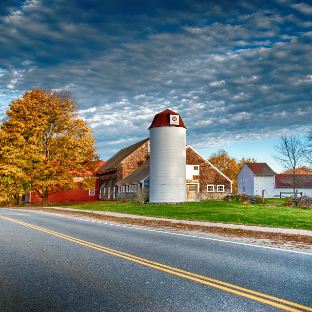"""New England barn"" stock image"