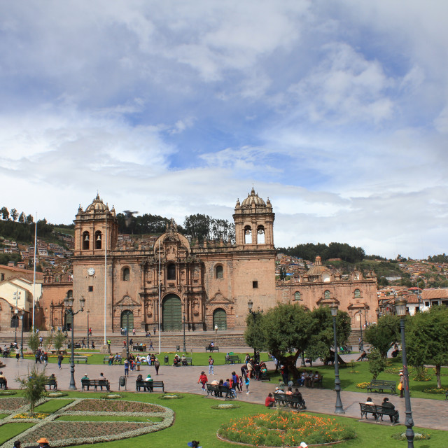 """Historic centre of Cusco"" stock image"