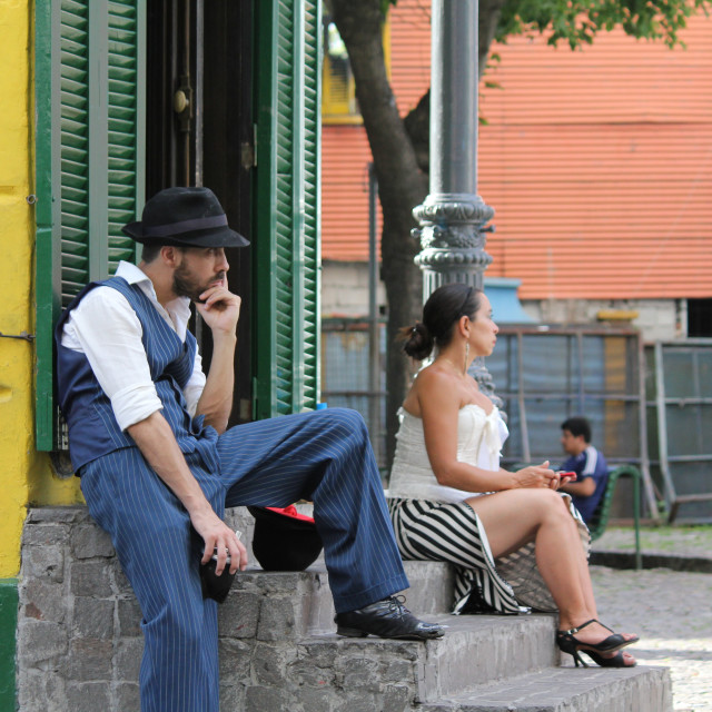 """Tango dancers in Boca"" stock image"