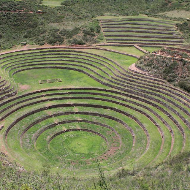 """The Terraces of Maras."" stock image"