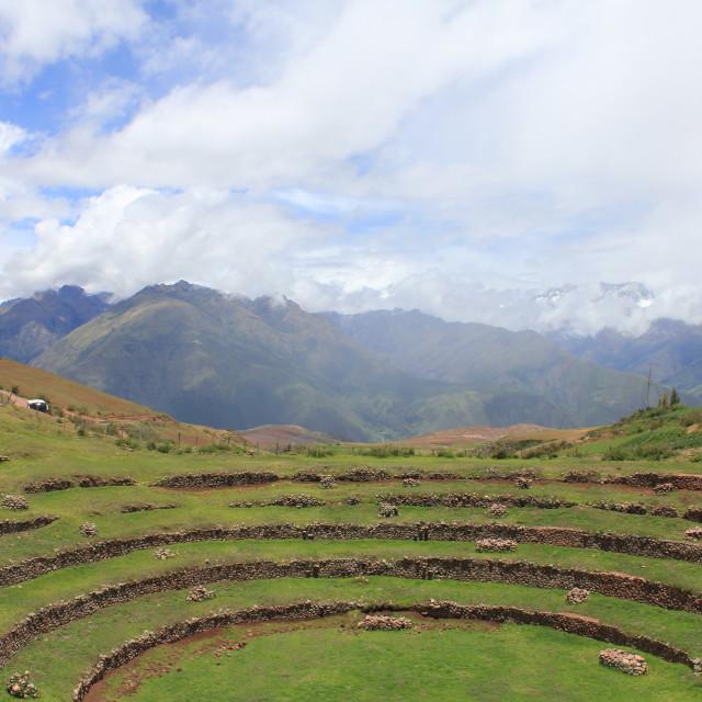 """The Terraces of Maras"" stock image"