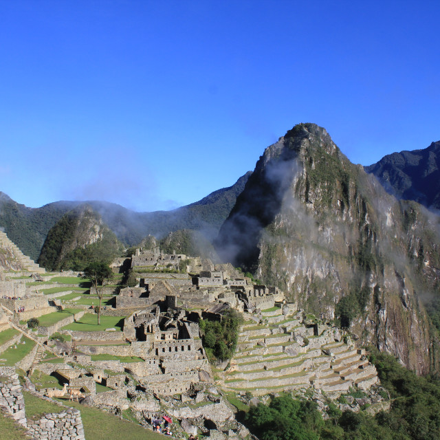 """""""Machu Picchu from above"""" stock image"""
