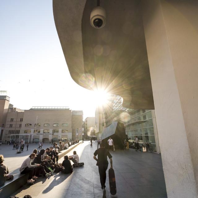 """MACBA, Museum of Contemporary Art of Barcelona,"" stock image"
