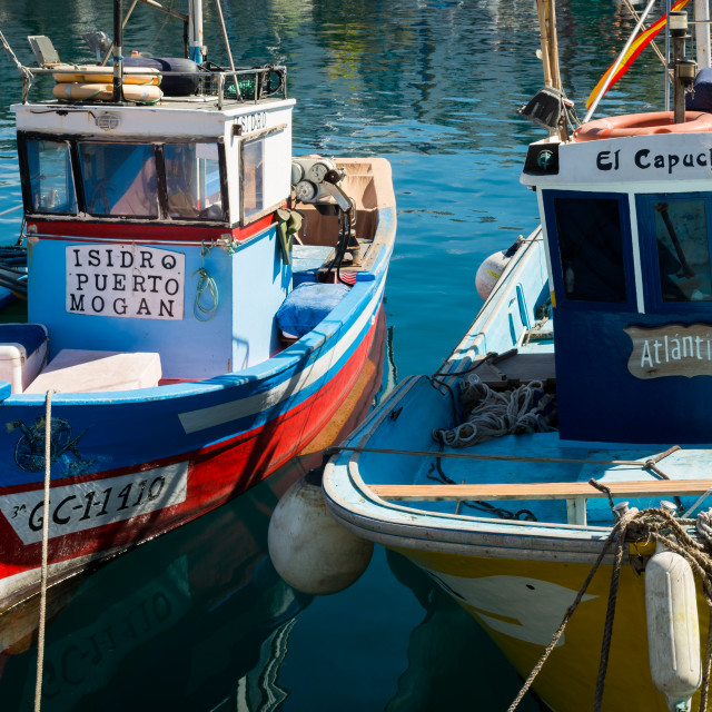 """Finshing boats in Puerto de Mogan"" stock image"