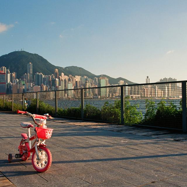 """""""West Kowloon, Hong Kong"""" stock image"""