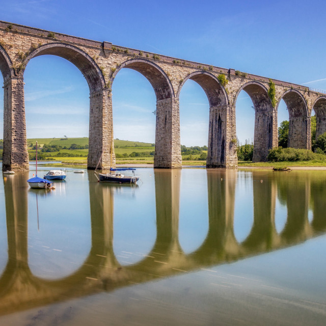 """St Germans Viaduct"" stock image"