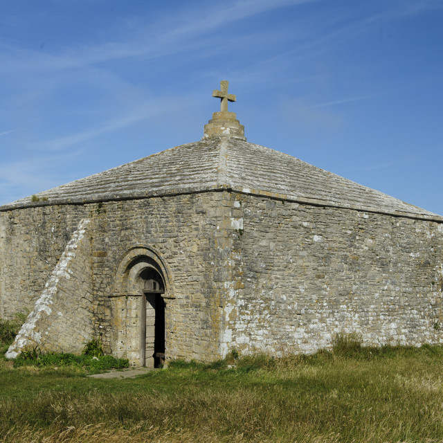 """St Aldhelm's Chapel, Dorset"" stock image"