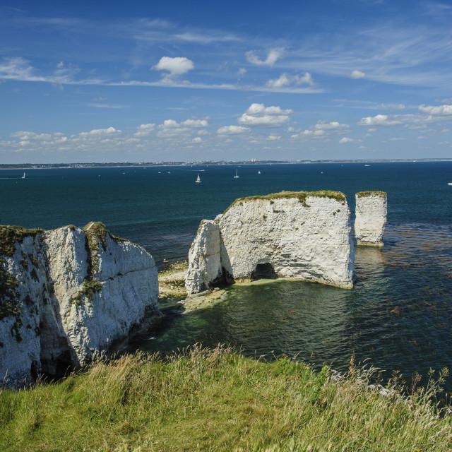 """Old Harry Rocks, Dorset"" stock image"