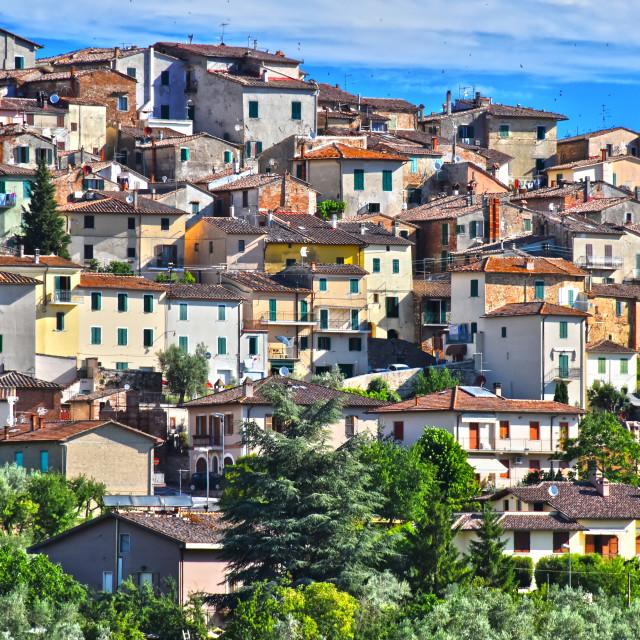 """City of Chianciano Terme in Tuscany, Italy"" stock image"