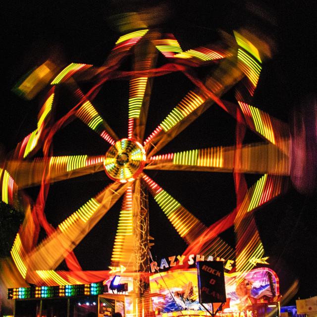 """Ferris Wheel at Night."" stock image"