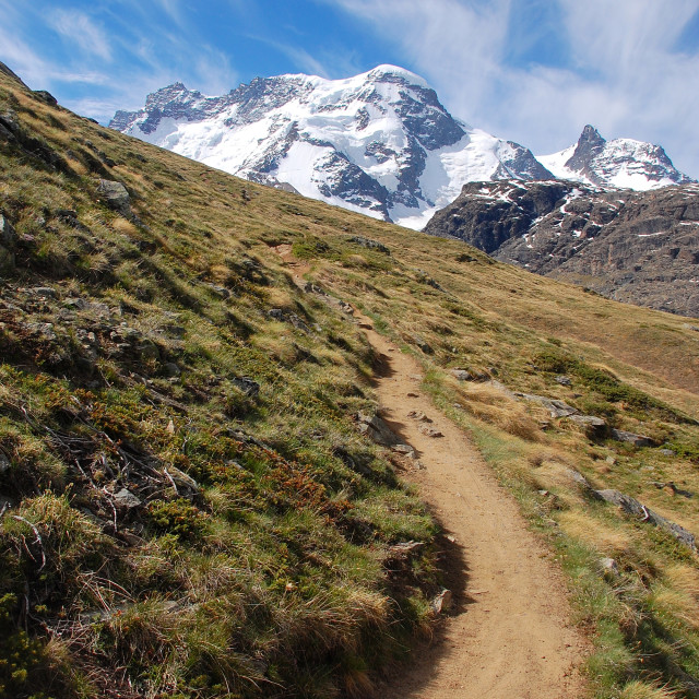 """""""Mountain Trail"""" stock image"""